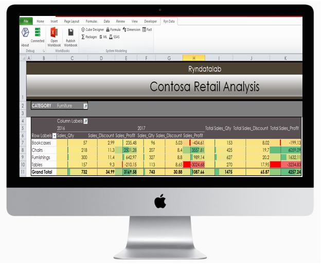 Excel addins for Ryndata Business intelligence
